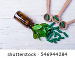 medicine herb. herbal pills... | Shutterstock . vector #546944284