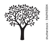 black tree. vector illustration. | Shutterstock .eps vector #546945004
