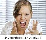 portrait of businesswoman... | Shutterstock . vector #546945274