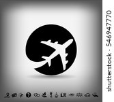 pictograph of airplane | Shutterstock .eps vector #546947770