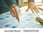 business man pointing at... | Shutterstock . vector #546965530