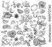sketch set of different hand... | Shutterstock . vector #546972760