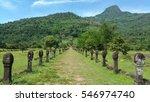 ancient walkway in laos ... | Shutterstock . vector #546974740