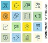 set of 16 project management... | Shutterstock . vector #546981850