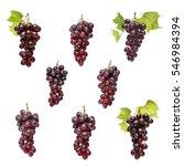 grapes on white background  ... | Shutterstock . vector #546984394