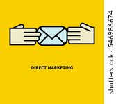 flat icon direct marketing.... | Shutterstock .eps vector #546986674
