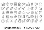 farm icons set on white... | Shutterstock .eps vector #546996730
