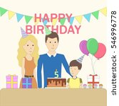 isolated birthday family in the ...   Shutterstock .eps vector #546996778