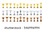 different cups set on white... | Shutterstock .eps vector #546996994