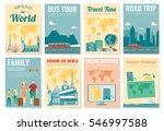 travel and tourism brochure set.... | Shutterstock .eps vector #546997588