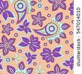 paisley seamless pattern.... | Shutterstock .eps vector #547014010