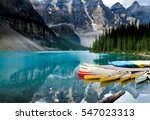 beautiful moraine lake in banff ... | Shutterstock . vector #547023313