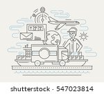 delivery service plain line... | Shutterstock .eps vector #547023814