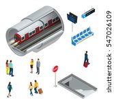 underground isometric set with... | Shutterstock .eps vector #547026109