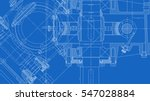mechanical engineering drawing. ... | Shutterstock .eps vector #547028884