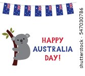 happy australia day with a... | Shutterstock .eps vector #547030786