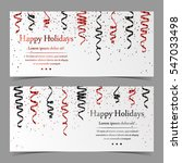 vector cards with red and black ... | Shutterstock .eps vector #547033498
