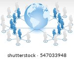 global dual network | Shutterstock .eps vector #547033948