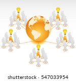 global radial network | Shutterstock .eps vector #547033954