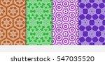 set of seamless flower pattern. ...   Shutterstock .eps vector #547035520