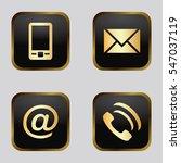vector icon set  golden... | Shutterstock .eps vector #547037119