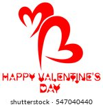 happy valentine's day  | Shutterstock . vector #547040440
