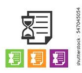 waiting list icon | Shutterstock .eps vector #547045054