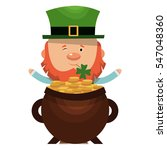 saint patrick in a large pot of ... | Shutterstock .eps vector #547048360