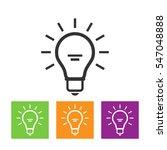 light bulb line icon vector ...