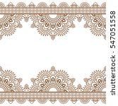 seamless pattern indian brown... | Shutterstock .eps vector #547051558