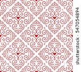 seamless ornate pattern with... | Shutterstock .eps vector #547054894