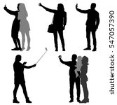 silhouettes man and woman... | Shutterstock . vector #547057390
