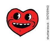 happy heart cartoon   Shutterstock .eps vector #54705943