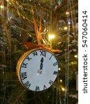 clock on christmas tree   Shutterstock . vector #547060414