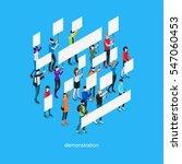 demonstration isometric... | Shutterstock .eps vector #547060453