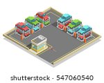 automatic parking isometric... | Shutterstock .eps vector #547060540