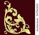 vintage baroque corner scroll... | Shutterstock .eps vector #547061833