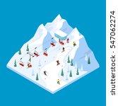 ski lift isometric tiled...