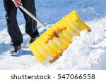 Shoveling Snow Shovel In Hand