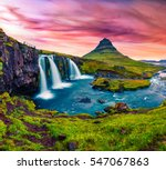 summer sunset on famous... | Shutterstock . vector #547067863