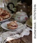 meringue on the rustic dining...   Shutterstock . vector #547070146