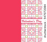 valentines day vintage card... | Shutterstock . vector #547072084