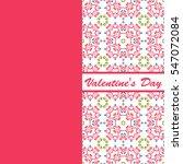 valentines day vintage card... | Shutterstock . vector #547072084