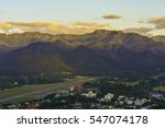high angle view of mae hong son ... | Shutterstock . vector #547074178
