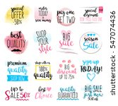 set of hand drawn watercolor...   Shutterstock .eps vector #547074436