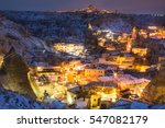 night view of the uchisar town. ... | Shutterstock . vector #547082179
