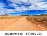 Rural Dirt Road In The Arizona...