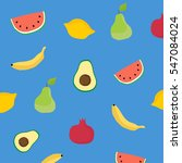 hand drawn fruits  background.... | Shutterstock .eps vector #547084024