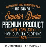 superior denim  premium product ... | Shutterstock .eps vector #547084174
