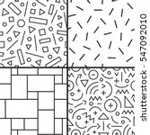 abstract seamless patterns with ... | Shutterstock .eps vector #547092010